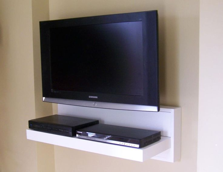 Floating av component shelf lcd flat tv stand custom for Wall cabinets for tv components