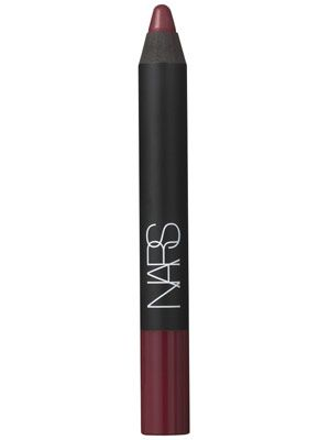 This raspberry Nars matte lip crayon is smooth enough to be worn on its own as a lip stain or as a base for a plum lipstick.
