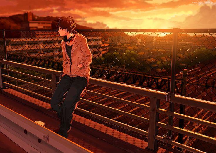 Chłopak, Płot, Anime