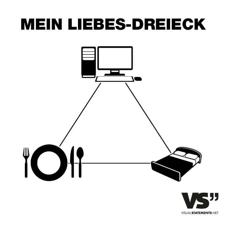 Visual Statements® Mein Liebes-Dreieck Sprüche/ Zitate/ Quotes/  Spaß/ witzig/ lustig/ Fun