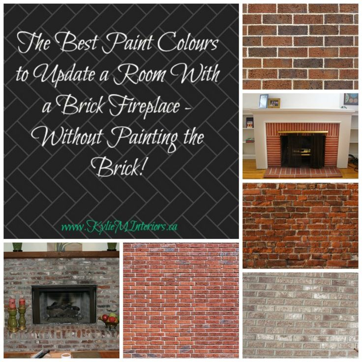 Paint colours are some of the best to update and go with a brick fireplace. Whether it's a red brick, orange, pink, purple or gray - these paint colours will update any room