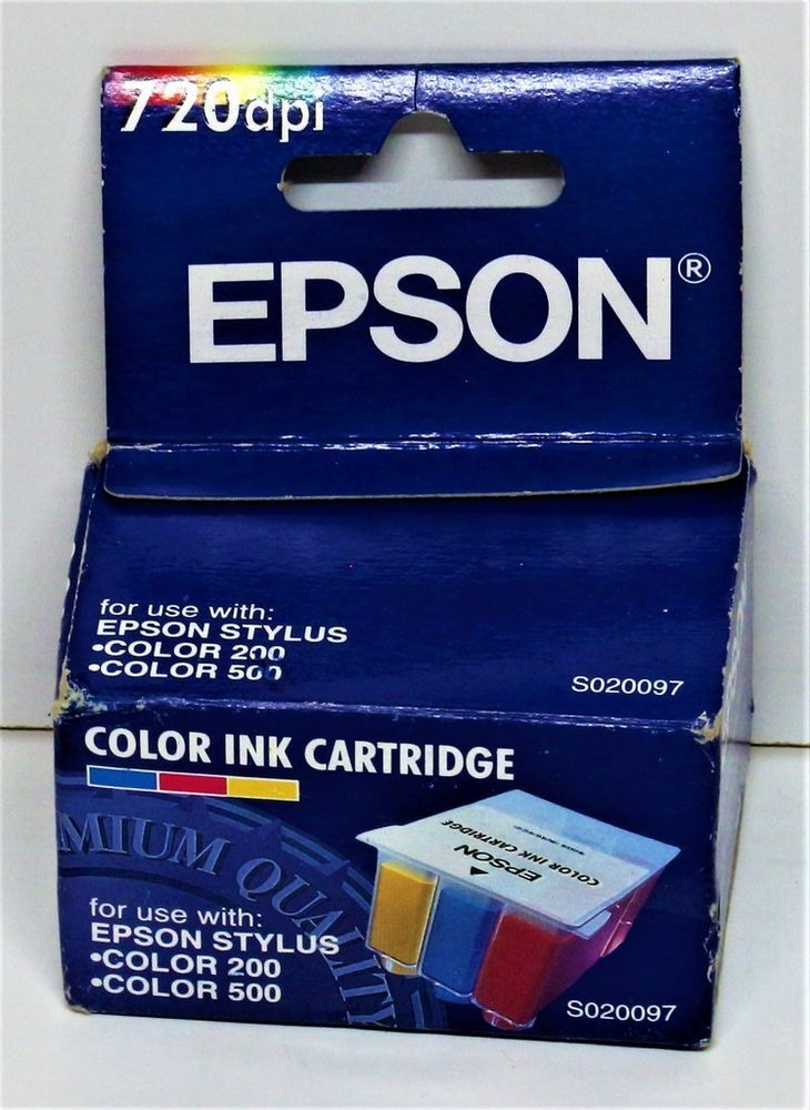 GENUINE EPSON SO20097 COLOUR INK PRINTER CARTRIDGE STYLUS 200 500 720 DPI IN BOX