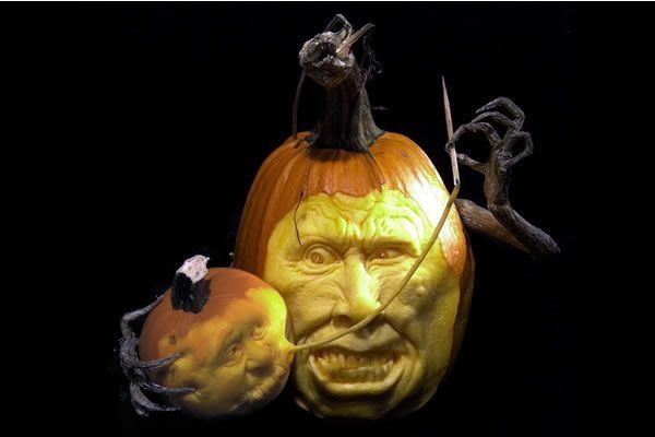 Witch Doctor Pumpkin Sculpture/Carving by Ray Villafane