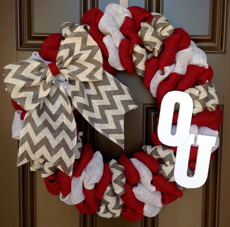 A personal favorite from my Etsy shop https://www.etsy.com/listing/255353364/oklahoma-university-sooners-burlap