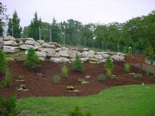 Slope Landscape Designs With Rocks. Hillside Landscaping, Landscaping Ideas  ...