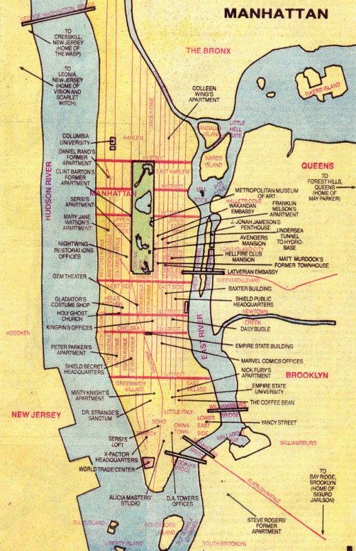 Best Gotham Map Ideas On Pinterest Gotham City Map Uk Map - Manhattan in us map