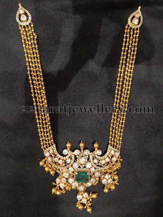 Gold Swirls Multi Chains Long Chain