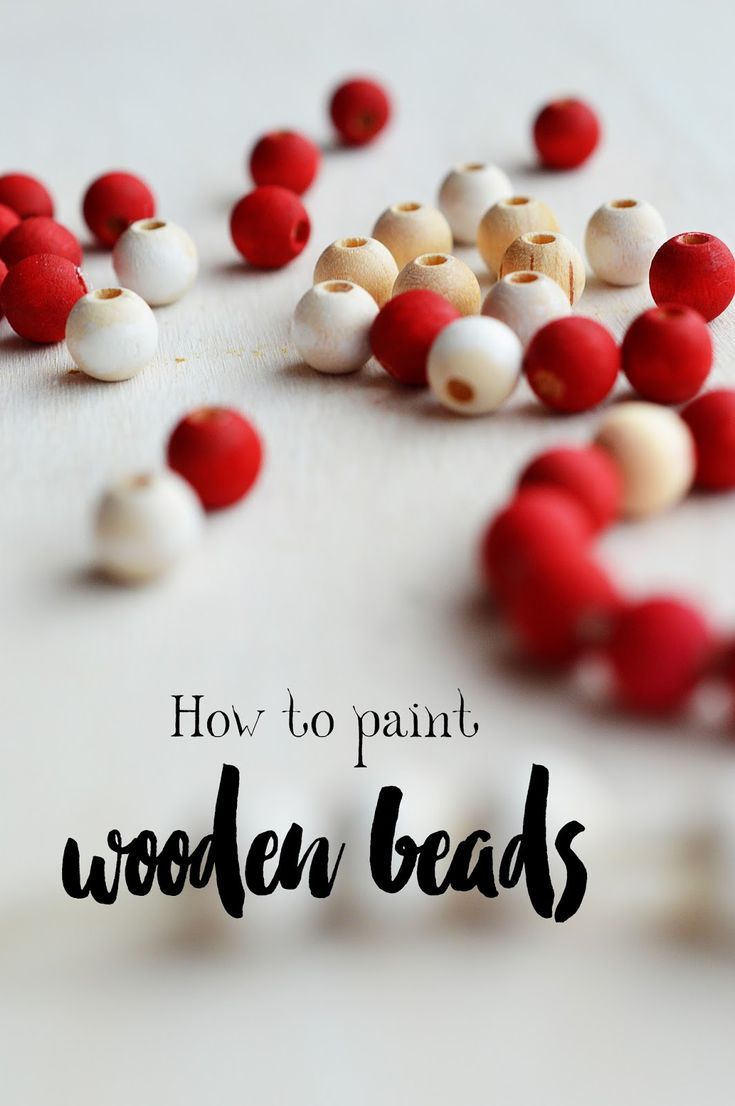 I quick tutorial on how best to paint wooden beads in bright colors evenly and without the much expected mess.
