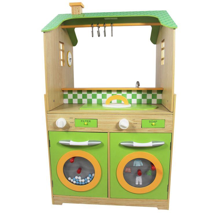 Play Kitchen with Dual Washers Set