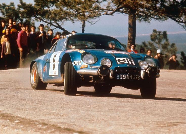 carsanddiecasts:  Jean-Luc Thérier - Jacques Jaubert - Alpine-Renault A110S, Rally de Portugal 1973