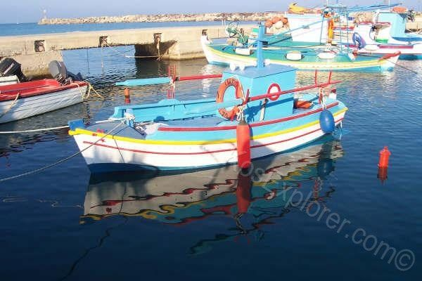 A simple yet magical sight...greek fishing boats bobbing in the water in every harbour on Kos! #kos #greece #fishing #boat #holidays