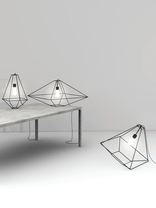 Diamond style lamps.