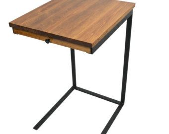 Captivating TV Tray Table With A Drawer   Laptop Desk   C Table   Side Table