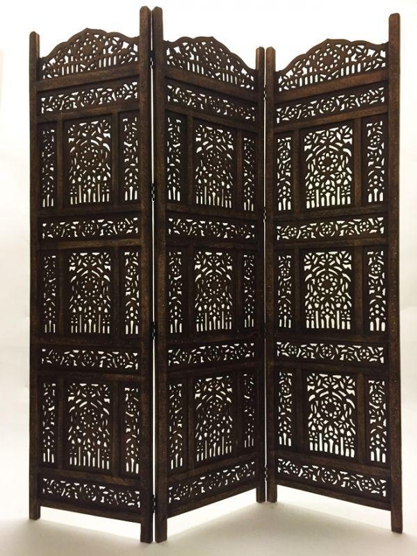 Orient Orientalischer Indische Holz Paravent Raumteiler Trennwand spanische wand in Möbel & Wohnen, Dekoration, Paravents   eBay