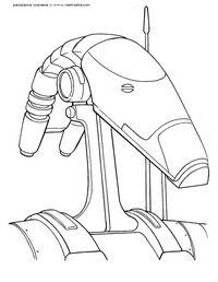 Боевой андроид - скачать и распечатать раскраску ...