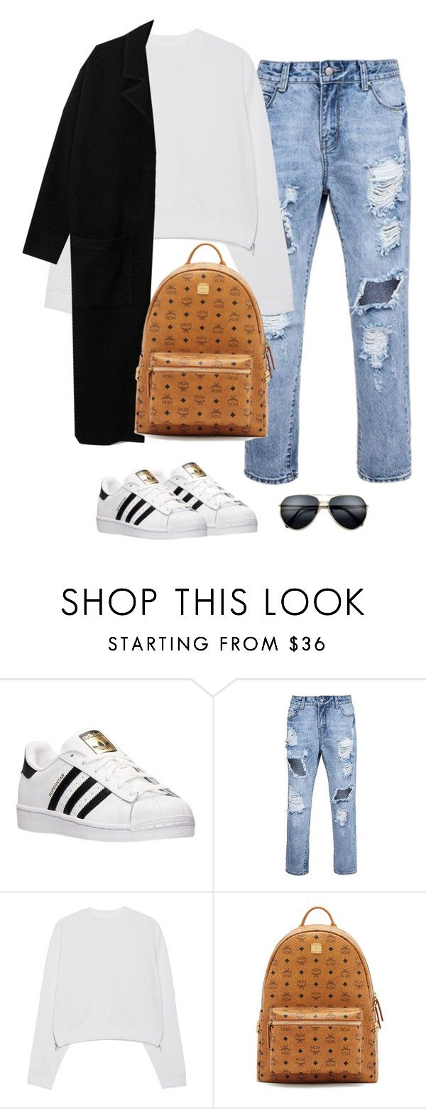 """""""Untitled #461"""" by christyandnef on Polyvore featuring adidas, Acne Studios, MCM, women's clothing, women, female, woman, misses and juniors"""