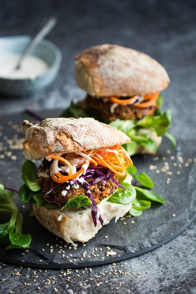 Vegan Quinoa and Kidney Bean Burgers. These baked burgers are perfect sandwiched in a nice bun with your favourite burger extras