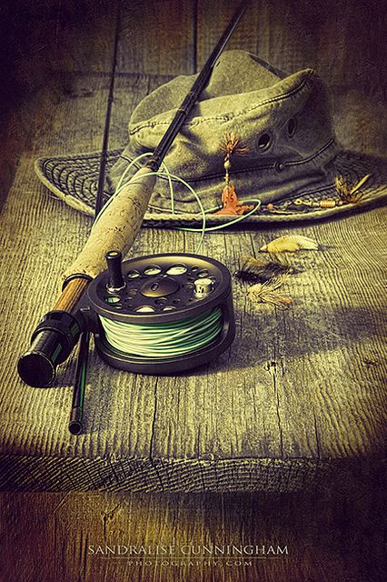 Fly fishing equipment with old...