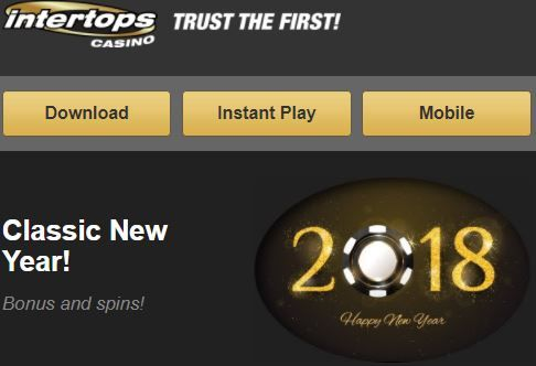Welcome 2018: 100% Deposit Match up to $200 and 30 Free Spins on Cash Cow Slot at Intertops Classic Casino