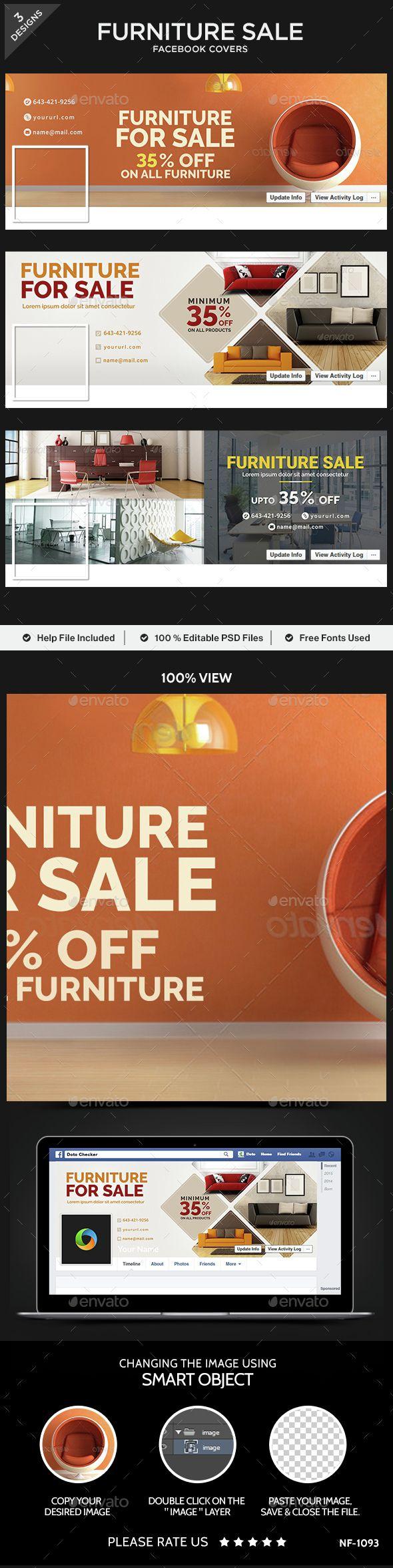 Furniture Sale Facebook Covers  - 3 Designs