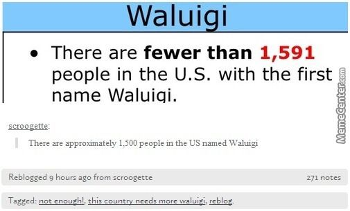 Not enough...the country needs more Waluigi. Make America great again!