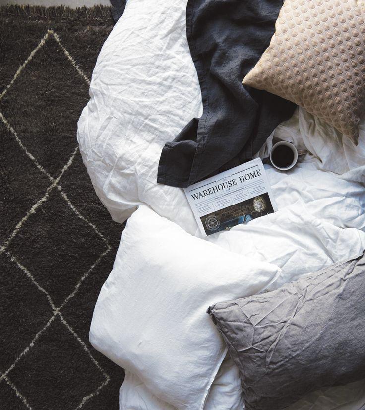 A.U Maison SS17. #aumaison #interior #homedecor #styling #danishdesign #bedroom #bedlinen #bedding #linen #berberrug