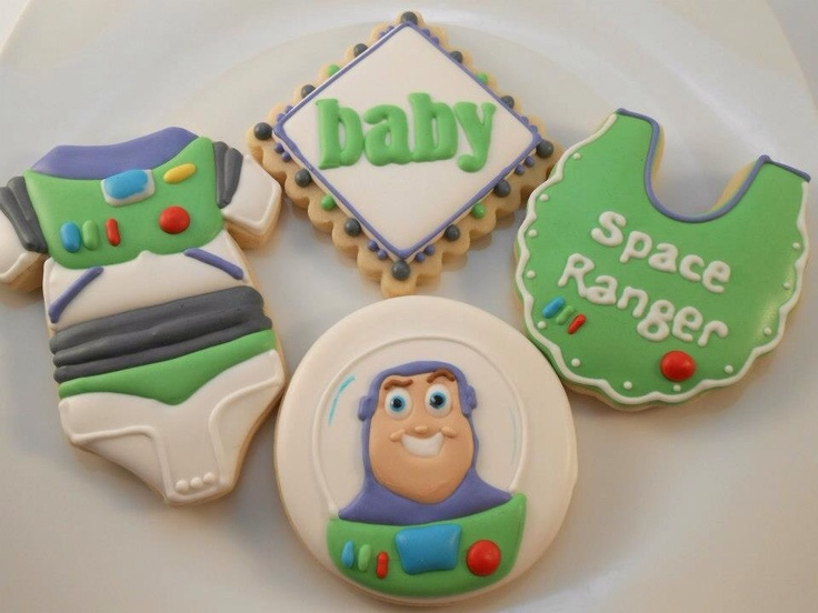 Buzz Light Year Cookies For A Baby Shower