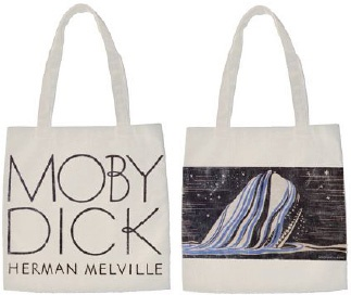 The Giant Peach - Out of Print - Moby Dick Tote Bag, $16.00 (http://www.thegiantpeach.com/out-of-print-moby-dick-tote-bag/)