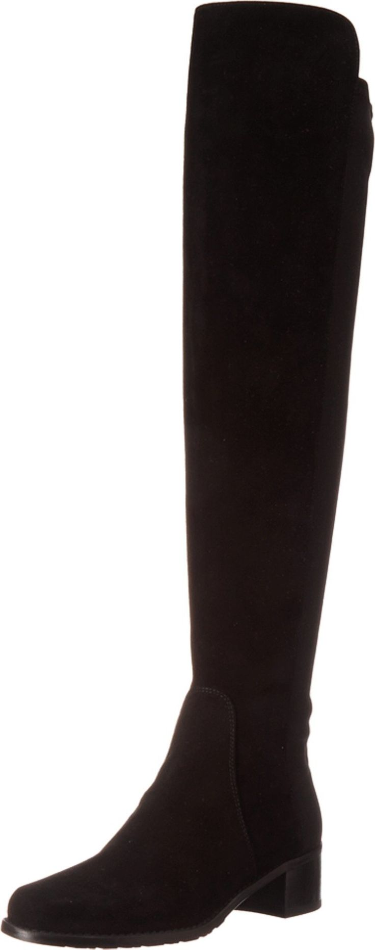Stuart Weitzman Women's Reserve Black Suede Boot 6.5 W. Made in USA or Imported.
