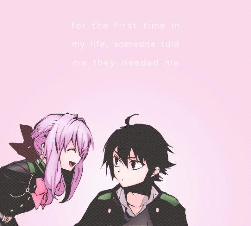 Shinoa and Yuu (Yuichiro Hyakuya) Seraph of the End | Owari no Seraph #anime