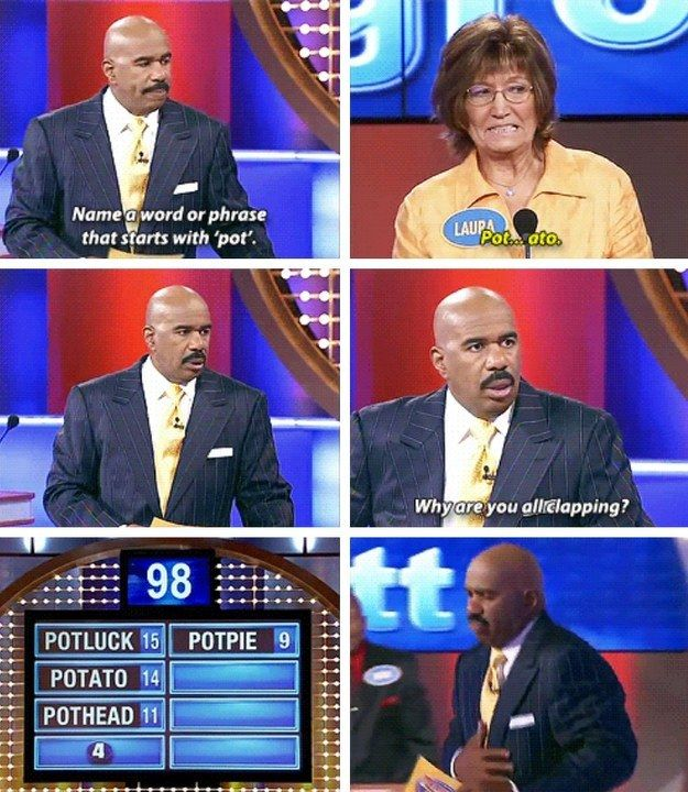 "19 Times ""Family Feud"" Contestants Spoke The Damn Truth And Steve Harvey was in awe of their genius."