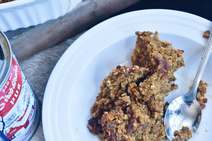 Gruau au four patate douce et dates - Sweet potato and date baked oatmeal | www.cuisinedopamine.com