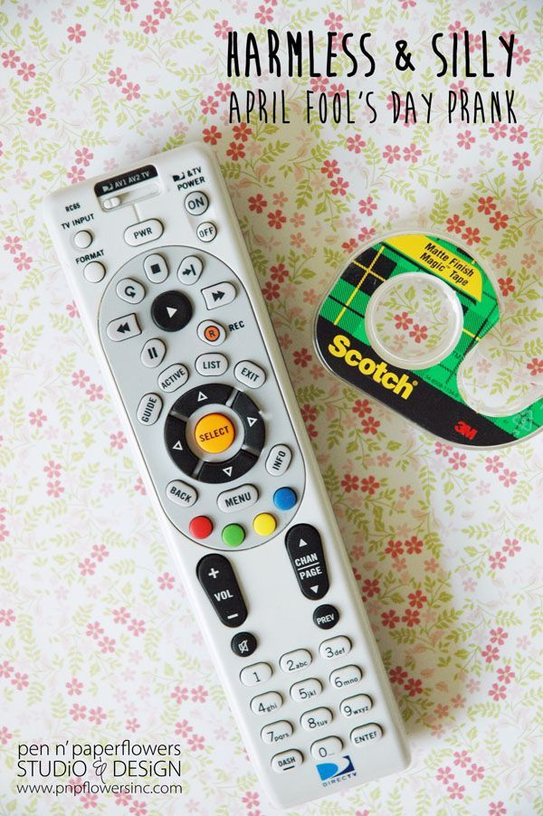 Cover the remote sensor with a piece of tape. | 31 Awesome April Fools Day Pranks Your Kids Will Totally Fall For
