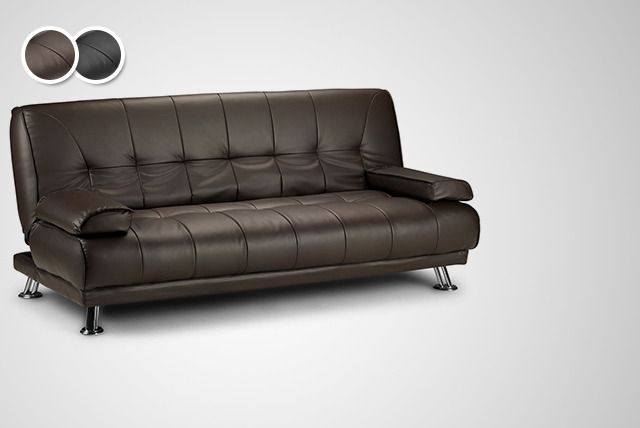 Faux-Leather Sofa Bed
