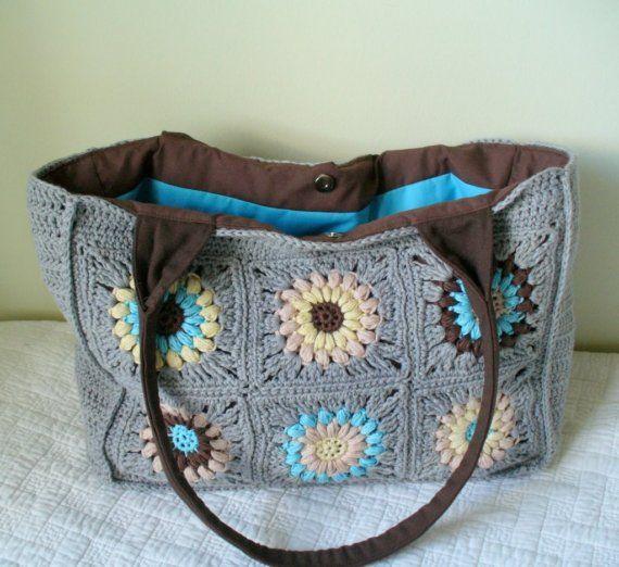 piazze di borsa all'uncinetto nonna di margiwarg su Etsy