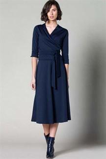 Falda punto azul