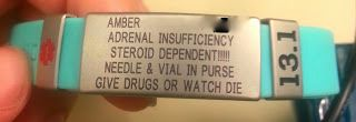 My Epic Medical Alert Bracelet: Steroid Dependent. Give Drugs or Watch Die.