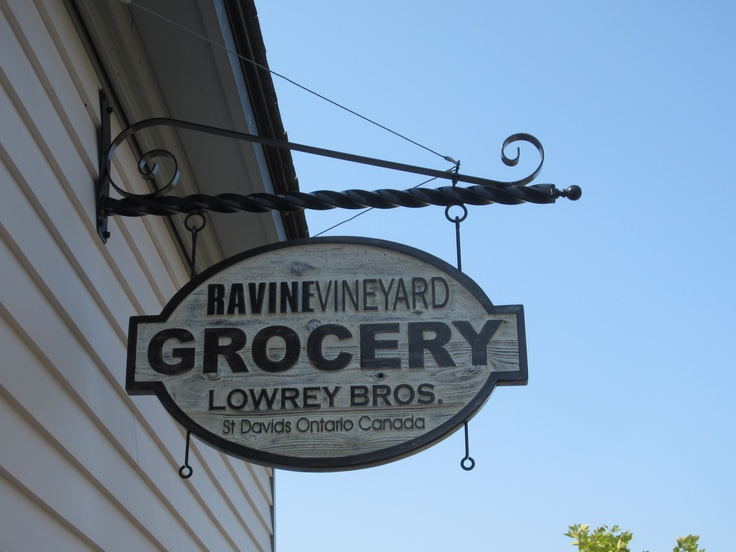 Hanging Grocery Sign.