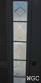 Wayward Girls' Crafts: Adding Privacy to Front Door Sidelights