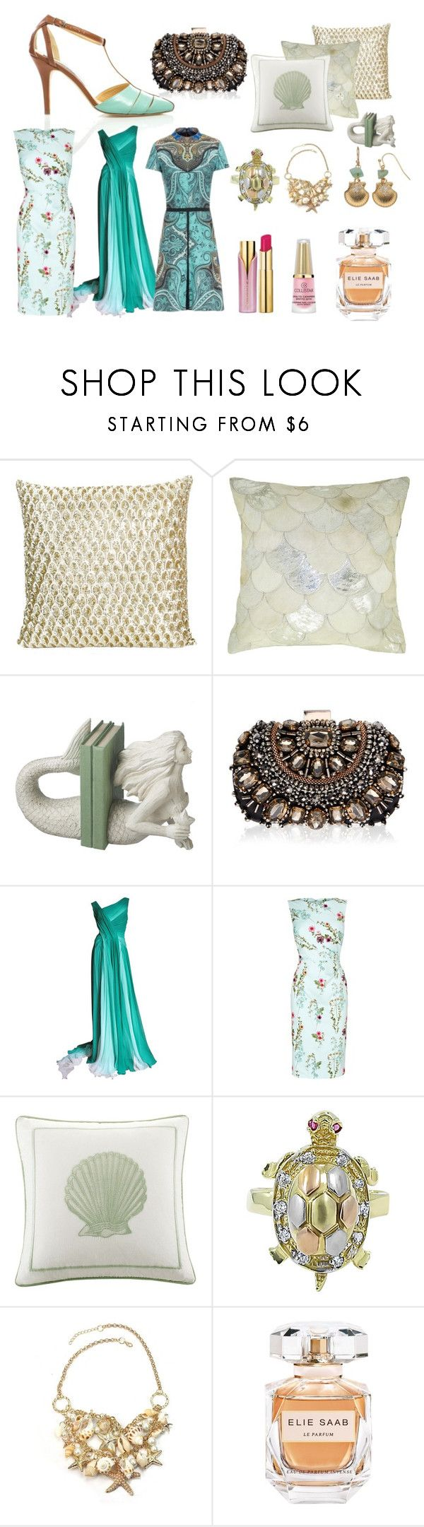 """""""Turquoise Venus"""" by fmeirosu on Polyvore featuring Dot & Bo, Lipsy, Monique Lhuillier, Phase Eight, Elie Saab, LC Lauren Conrad and vintage"""