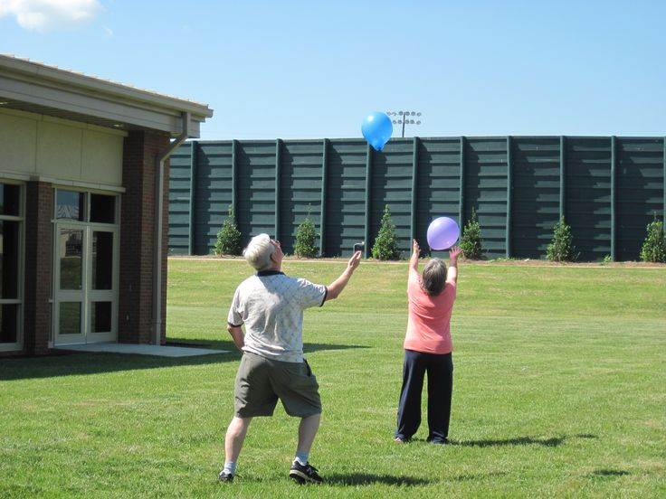 keep that balloon in the air #challenge at #JCSeniorsCtr