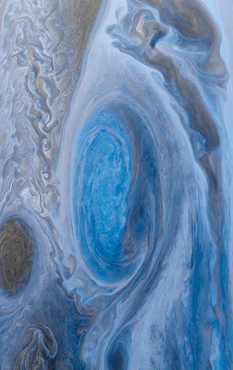 "thedemon-hauntedworld: "" Jupiter's Great Red Spot from Voyager 1 Color Inverted What will become of Jupiter's Great Red Spot? Recorded as shrinking since the 1930s, the rate of the Great Red Spot's..."