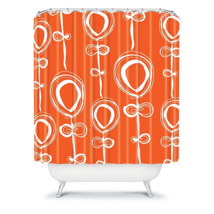 DENY Designs Rachael Taylor Contemporary Orange Shower Curtain - 13253-SHOCUR
