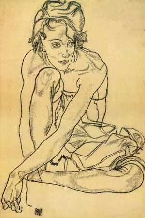 Egon Shiele (she said: all time favourite artist, I always think about his work when I'm drawing)