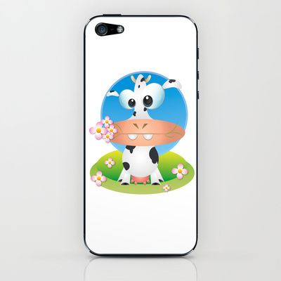 Dora Cow iPhone & iPod Skin by MargoLand - $15.00