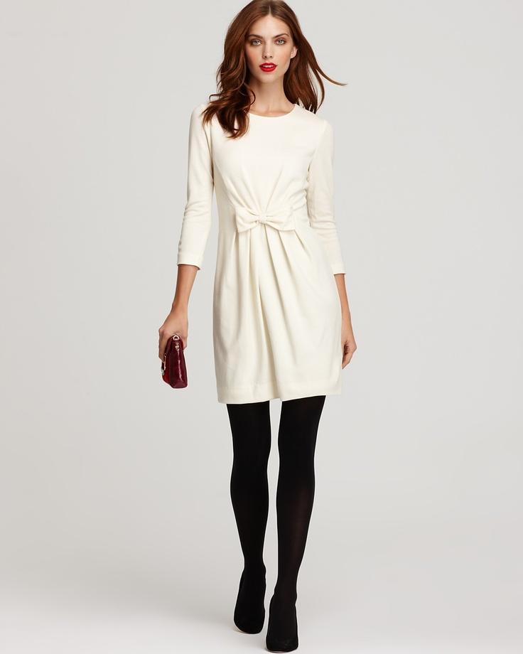 Milly Sidney Three Quarter Sleeve Bow Dress