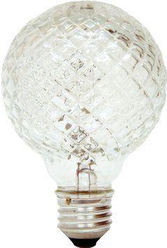 GE Lighting 16775 60-Watt Halogen Faceted Vanity Globe G25 Light Bulb, 1-Pack - Amazon.com