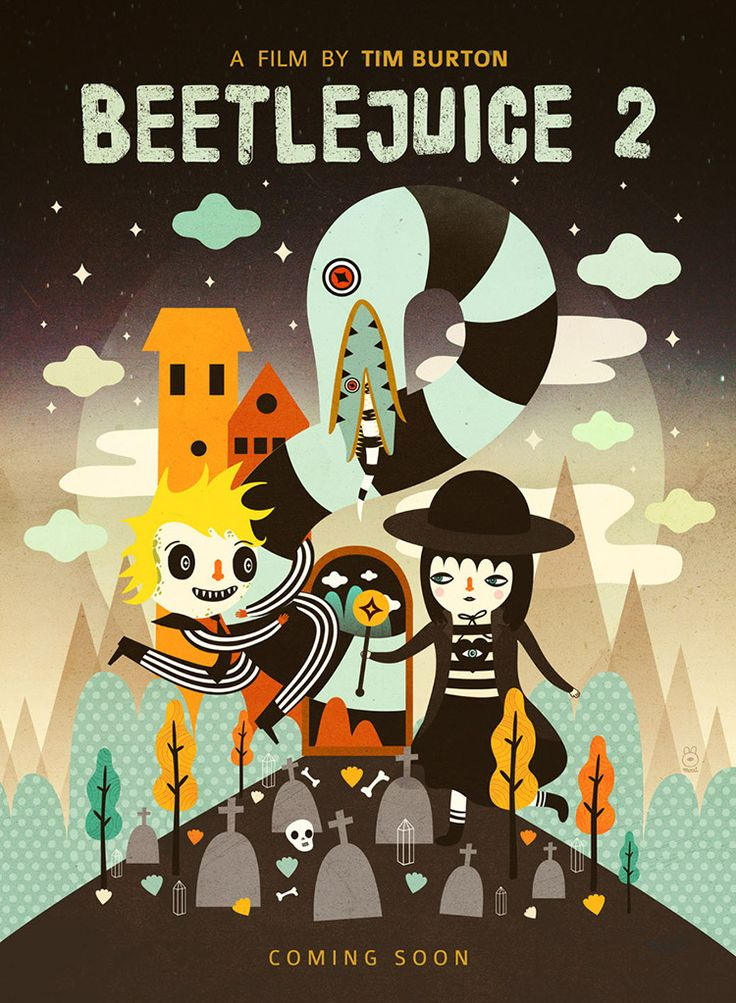 Beetlejuice 2 by Muxxi Sequel is a group art show at the iam8bit gallery (previously) in Los Angeles featuring posters from over forty talented artists for movie sequels that were never made. The e...