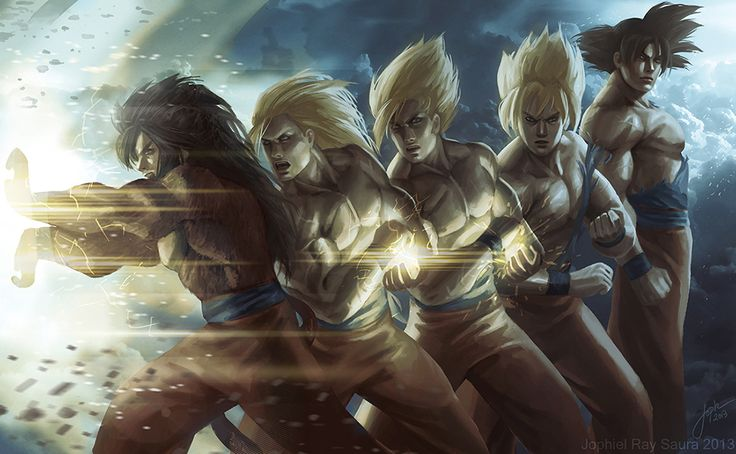 Dragon Ball Z: Goku Evolution by JophielS.deviantart.com on @deviantART