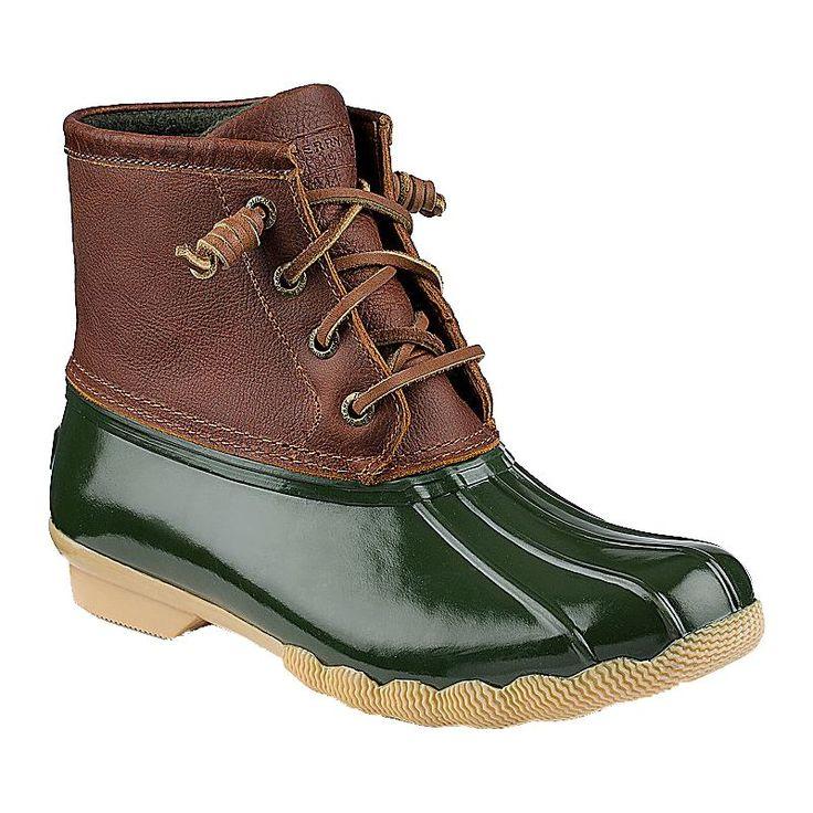 Sperry Top-Sider Women's Saltwater Waterproof Duck Boots, Size: 9, Green